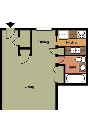 1 bedroom - Woods Apartments features recently updated bright and clean studio, one.