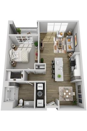 1 bedroom Apartment - Everything you want in a neighborhood is outside of your front door. Parking A - Square footage: 720 sq