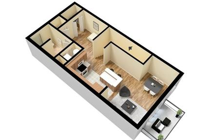 Apartment only for $1,220/mo. You Can Stop Looking Now. Pet OK! - Square footage: 670 sq