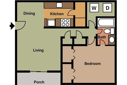 3 bedrooms Apartment - Our community offers you a warm atmosphere.