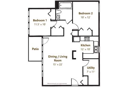 2 BEDROOM 1 BATH APARTMENT W/ GARAGE