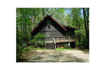 Secluded log cabin apartment utilities included 193b for Dahlonega ga cabins for rent